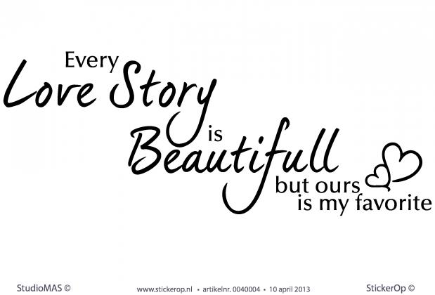 stickerop every love story is beautiful