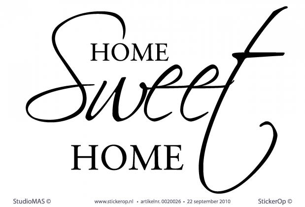 Muurstickers thema u0026quot;quotes en spreukenu0026quot;- Home sweet home