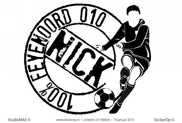 StickerOp - Muursticker naamstempel Feyenoord - Daley
