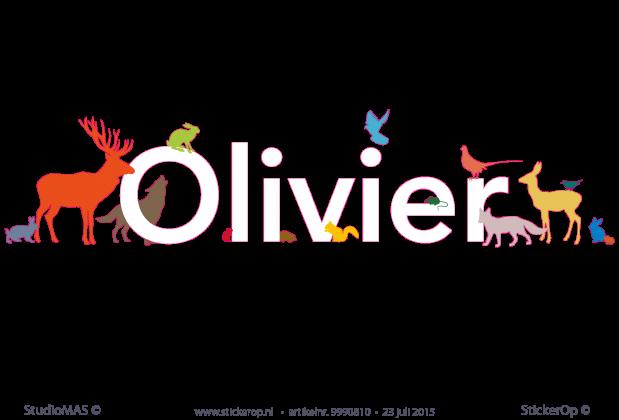 Muurstickers Babykamer Eigen Ontwerp : muursticker eigen naam Olivier