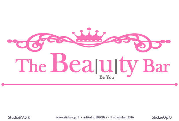 muursticker zakelijk logo the Beauty Bar
