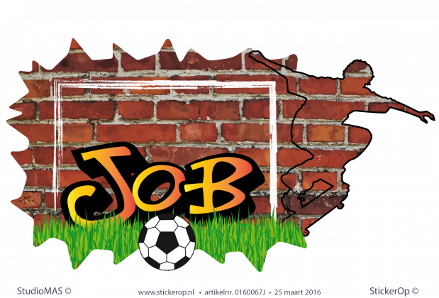 muursticker graffiti sportieve Job