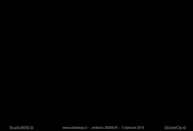 Bekend StickerOp - Muurstickers gedichten - Zee - Toon Hermans LV29