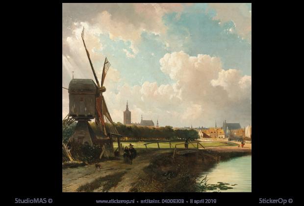Muurstickers Den Haag.Gezicht Op Den Haag Vierkant Uitsnede Cornelis Springer