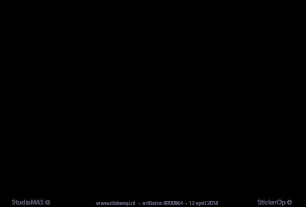 Arabische Muurstickers Kinderkamer.Stickerop Muursticker Eigen Naam In Arabisch Schrift