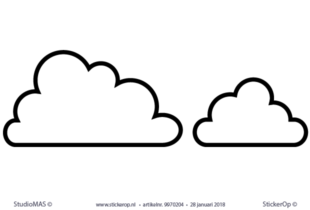 meyco wolkjes set 2 stuks 1x 61x33 cm en 1x 39x24 cm