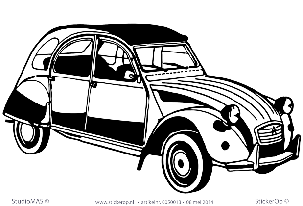 muursticker transport 2CV