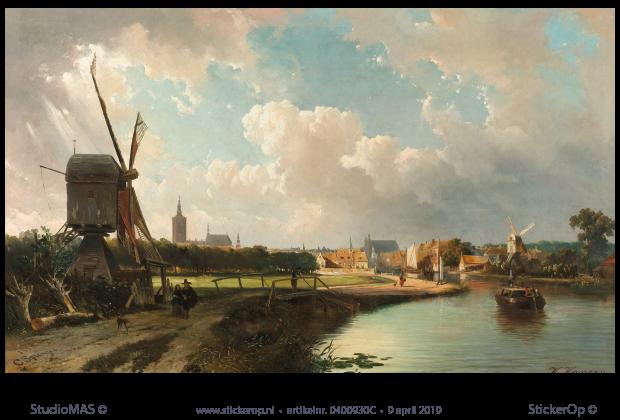 Muurstickers Den Haag.Gezicht Op Den Haag Originele Uitsnede Cornelis Springer