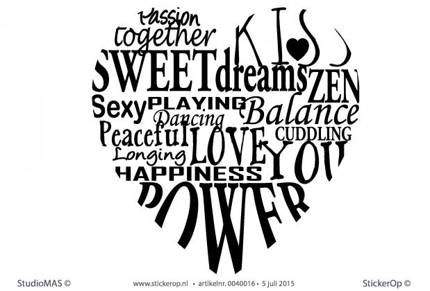 Stickerop Muurstickers Liefde