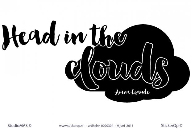 stickerop muursticker songtekst head in the clouds