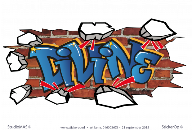 muursticker graffiti Divine