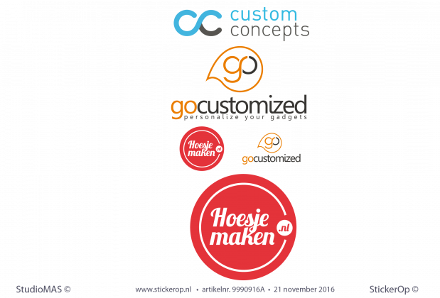 Muursticker zakelijk logo Go Customized