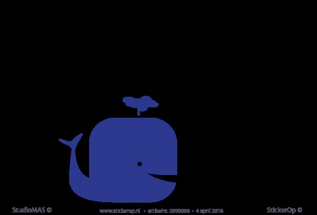 Coole Letters Babykamer : Muursticker babykamer walvissen kleuren