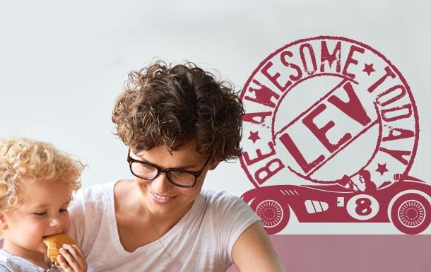Muursticker naamstempel be awesome today-min