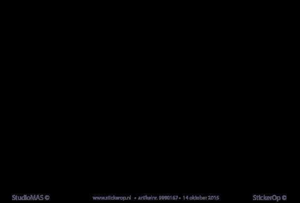 muursticker zelf aangeleverde tekening stella s straa