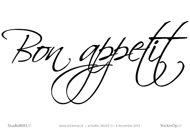 Muurstickers Keuken Bon Appetit : Bon appetit