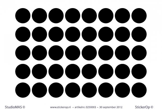 StickerOp - Muursticker stippen 3 cm