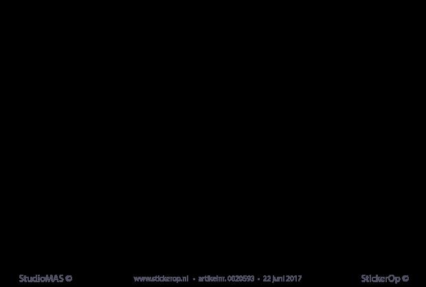 Beroemd StickerOp - Muursticker gedicht Toon Hermans - Geluk #FE14