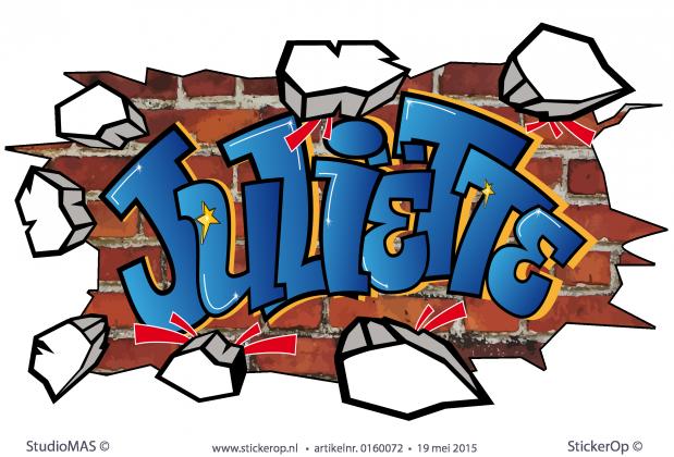 Graffiti Op Je Slaapkamer Muur : StickerOp - Muursticker graffiti op ...