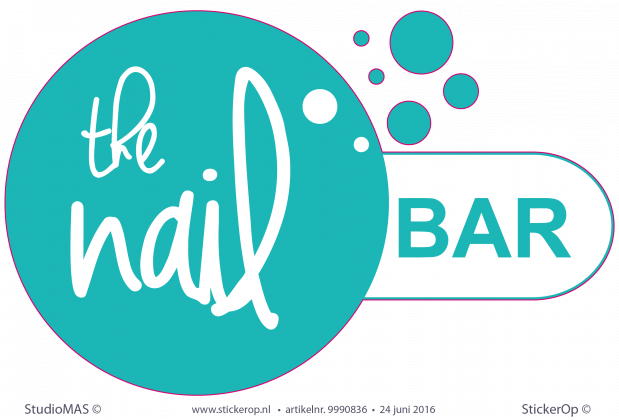 Muurstickers zakelijk logo the NailBar