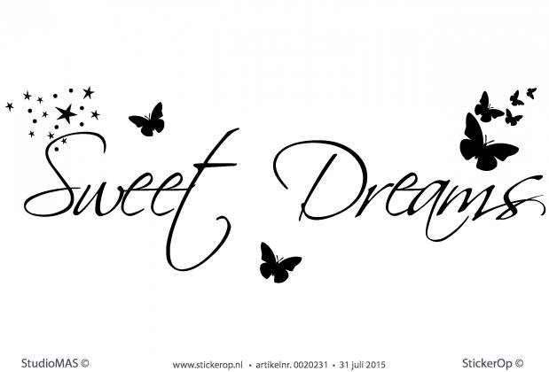 stickerop muursticker tekst sweet dreams