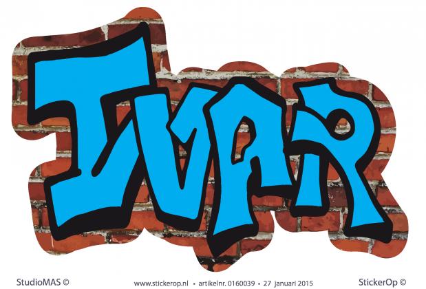 Graffiti Op Je Slaapkamer Muur : Bekijk de sticker op de kleur van ...