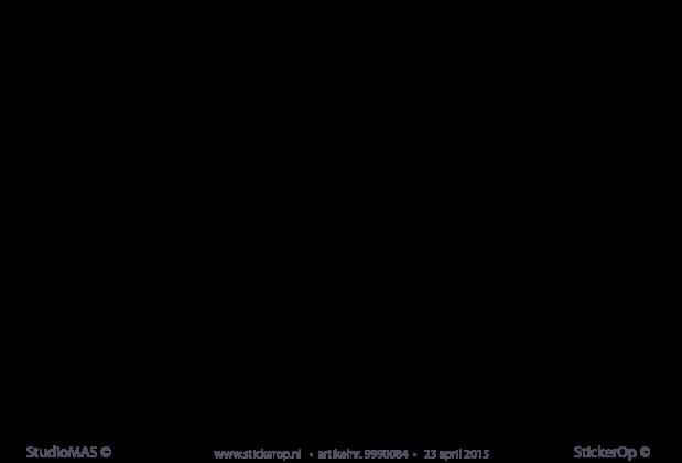muursticker van zelf aangeleverde tekening - jet's uil