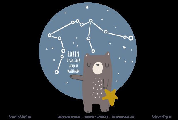Coole Letters Babykamer : Babykamer sterrenbeeld naamsticker