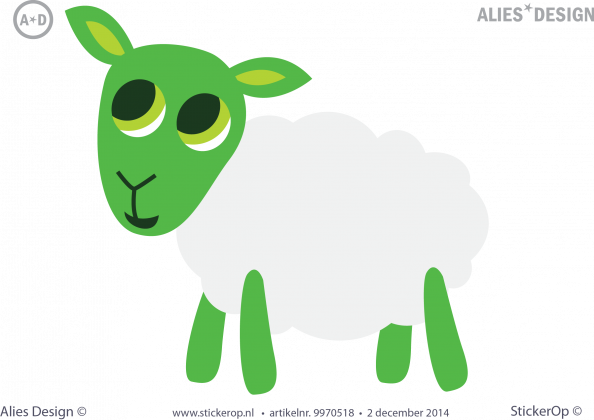 muursticker alies design schaap