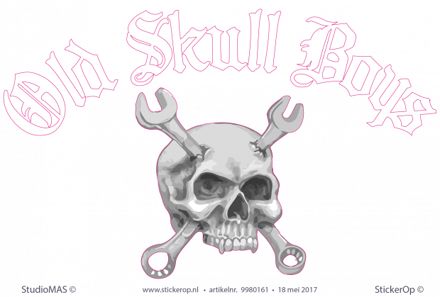 sticker logo - Old Skull Boys
