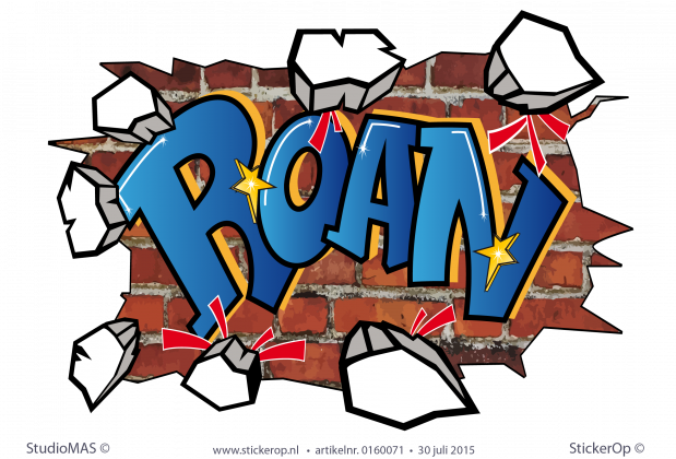 muursticker graffiti Roan