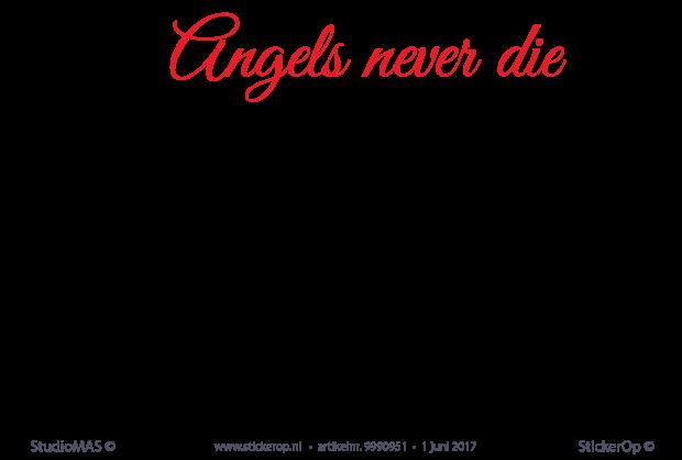 Zelf Muursticker Ontwerpen.Muursticker Laten Maken Van Eigen Ontwerp Angels In Twee