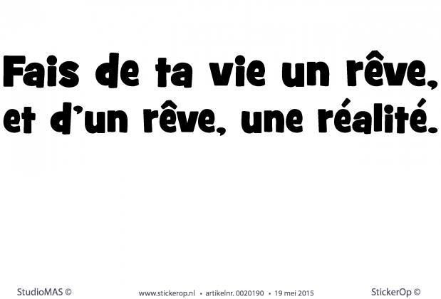 Franse Slaapkamer Teksten : StickerOp - Muursticker Franse tekst ...