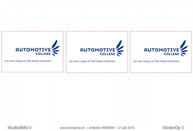 muursticker zakelijk logo Automotive-College